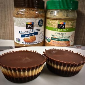 Peanut or almond butter… chocolate cups?